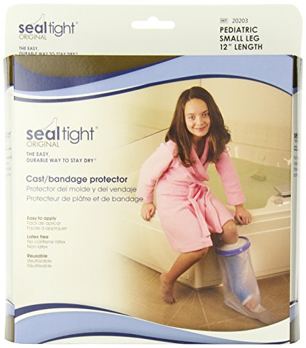 Seal Tight ORIGINAL Cast and Bandage Protector, Best Watertight Protection, Pediatric Small Leg by Brownmed
