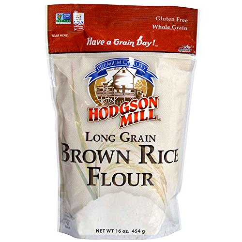 Hodgson Mill Rice Flour Long Grain Brown, 16 Ounce (Pack of 6) Wholesome Baking and Cooking Ingredients for Home Cooks and Whole Grains