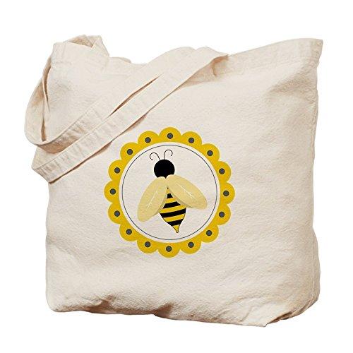 Bumble Bee Treat Bag - CafePress - Bumble Bee Circle - Natural Canvas Tote Bag, Cloth Shopping Bag