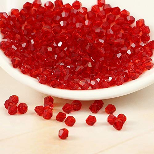 (BeesClover 5301# Grade AAA Light Siam Color 3mm 4mm,6mm,8mm Crystal Beads,Garmet/Jewelry Stones Decoration 4mm 720pcs )