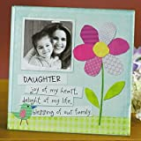 Abbey Press Daughter Glass Photo Frame - Inspiration Faith Blessing Spirit 51800-ABBEY