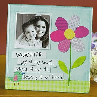 Abbey Press Daughter Glass Photo Frame - Inspiration Faith Blessing Spirit 51800-ABBEY by Abbey Press