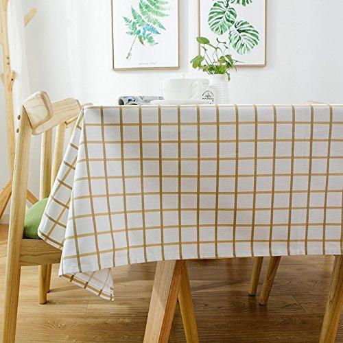 MoMo Moderne Minimalistische Baumwollstoff-rechteckige Gitter-Tischdecke,CC,90x140cm B0796RK345 Tischdecken Heißer Verkauf       Ausgezeichnete Qualität