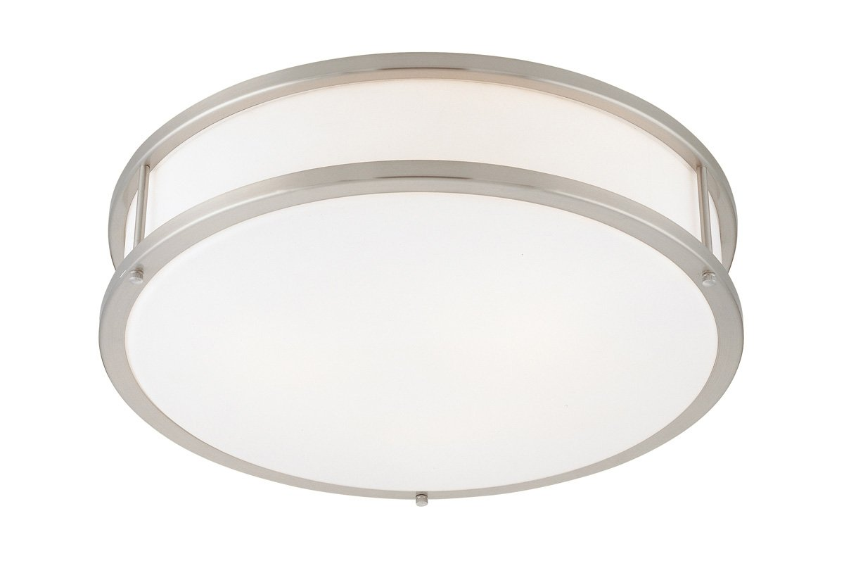 Access Lighting 50081-BS/OPL Conga 3-Light Flush Mount, Brushed Steel with Opal Glass