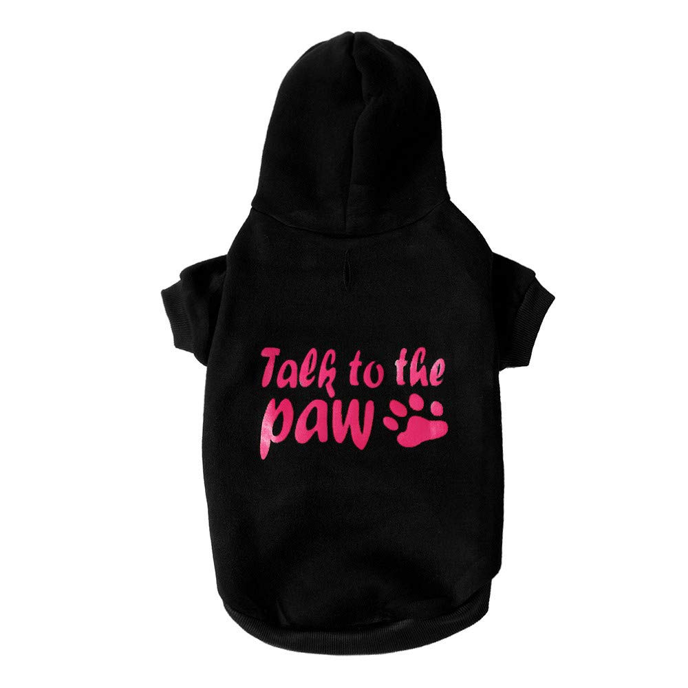 Pet Clothes Dog Pet Clothes Hoodie Warm Sweatshirts Puppy Coat Apparel Letter Print Costume Small Dogs Pet Clothes Vest T Shirt For Small Medium Dog Cat Puppy Rabbit Pig Warm Dog Outfits (Black, XS) by succeedtop (Image #4)