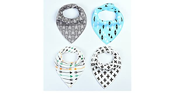 Amazon.com : Elala Baby Bandana Drool Bibs, 4-Pack Gift Set for Drooling and Teething, 100% Cotton, Baby Boy Baby Girl Bandana Bibs Hypoallergenic Soft : ...