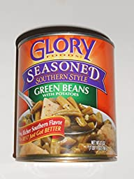 GLORY FOODS SEASONED SOUTHERN STYLE GREEN BEANS WITH POTATOES 27 oz (Pack of 5)
