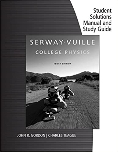 Amazon student solutions manual with study guide volume 1 for student solutions manual with study guide volume 1 for serwayvuilles college physics 10th 10th edition kindle edition fandeluxe Image collections