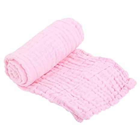 Toalla de baño para bebés, multifuncional, transpirable, 6 capas de algodón, gasa