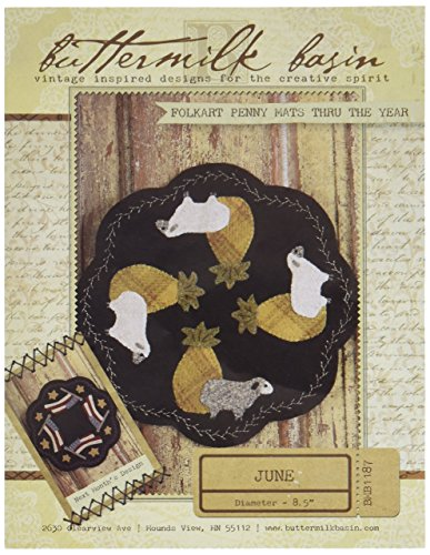 Folk Art Wool (Buttermilk Basin BUTBMB1187 Folk-Art Penny Mats Thru The Year June Pattern)