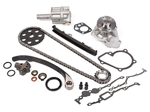Evergreen TK3005WOPT Fits Nissan KA24E Timing Chain Kit w/Water Pump & Oil Pump