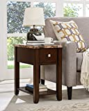 Roundhill Furniture Chair/End Table, Espresso For Sale