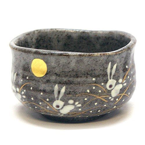 Japanese Matcha Bowl Rabbit KUTANI YAKI(ware) - Japanese Ceramic Bowls