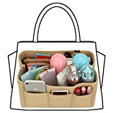 xhorizon SR Felt Insert Fabric Purse Organizer, Handbag Organizer, Multi Pocket Bag in
