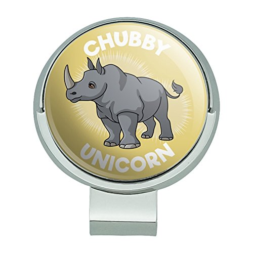 GRAPHICS & MORE Chubby Unicorn Rhino Rhinoceros Golf Hat Clip with Magnetic Ball Marker