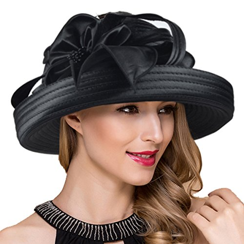 Lady Church Derby Dress Cloche Hat Fascinator Floral Tea Party Wedding Bucket Hat S051 ()