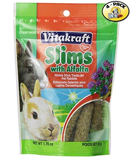 Vitakraft Alfalfa Slims Nibble Stick Treats for Rabbits - 4 PACK (Alfalfa Treats)