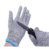 Cut Resistant Gloves,Knife Cut Proof Gloves Cut Proof Resistant Gloves Level 5 Protection Hand Protection Food Grade Whittling Knife Mandolin Woodcarving(M)