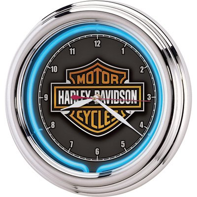 Harley-Davidson Essential Bar & Shield Neon Clock for sale  Delivered anywhere in USA
