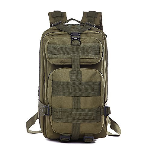 MOPS Tactical Backpack, 30L Military Waterproof Compact Shoulders Bag Rucksacks for Outdoor Camping Hiking Trekking