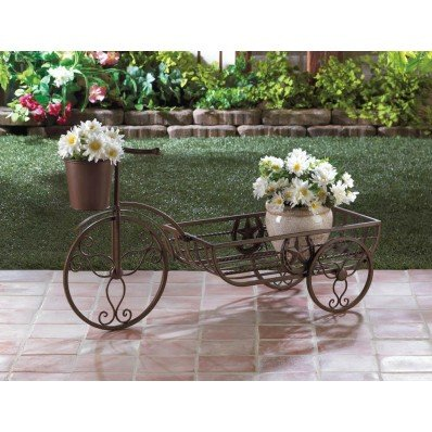 Planters LONESTAR HORSESHOE Tricycle BICYCLE PLANTER Texas Star Plant Iron Metal Garden - Irons Texas Star