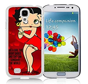Betty Boop(1) White Samsung Galaxy S4 Cellphone Case DIY and Durable Cover