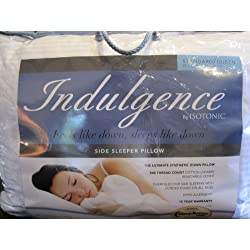 """Indulgence Standard/Queen Side Sleeper Pillow by Isotonic 28""""x20"""""""