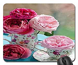 To Mom With Love Mouse Pad, Mousepad (Flowers Mouse Pad, Watercolor style)