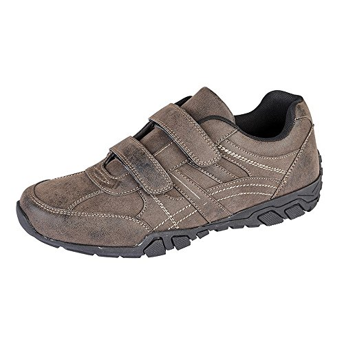 Route 21 Mens Distressed Touch Fastening Leisure Shoes Brown p1Eu5xug