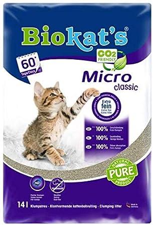 Gimborn Arena para Gato Biokats Micro Classic, 14 L: Amazon.es: Productos para mascotas