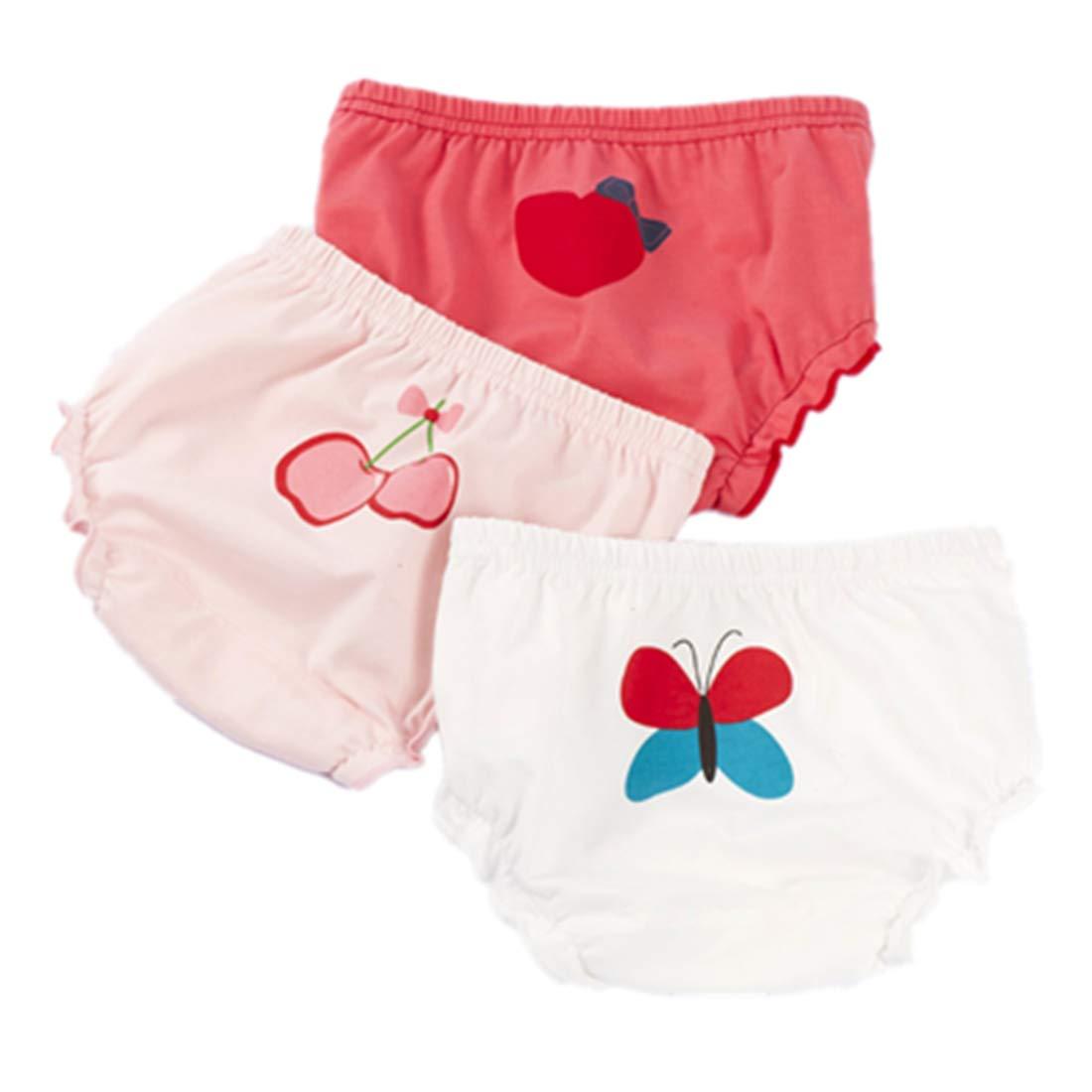 AYIYO Baby Girls Boys Owl Printed Underwear Cotton Training Shorts Bloomers Pack of 3