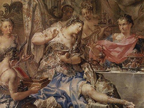Lais Puzzle Johann Georg Platzer - La pintura invitada de Cleopatra, detalle 200 piezas