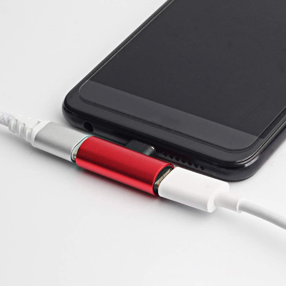 AkoMatial 2-in-1 Splitter Type-C Headphone Cellphone Charging Audio Adapter for Huawei Xiaomi