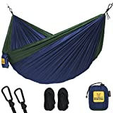Hammock for Camping Single & Double Hammocks - Top Rated Best Quality Gear For The Outdoors Backpacking Survival or Travel - Portable Lightweight...