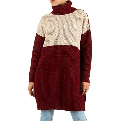 Ital-Design - Jerséi - para mujer borgoña