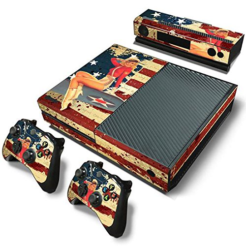 Price comparison product image Mod Freakz Console and Controller Vinyl Skin Set - Vintage America Flag for Xbox One
