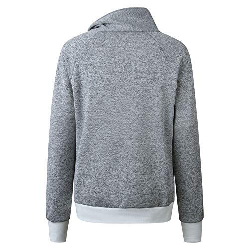 Sweat Amuster Et Manches shirts Rayée Sport À En Femme Peluche Gris Sweats Chemise Hoodie Longues Poche fqfTrYw