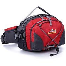 Han Shi Sports Bag, Waterproof Running Belt Bum Waist Pouch Fanny Pack Camping Sport Hiking Shoulder Bag