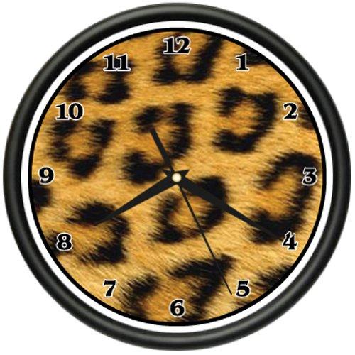 CHEETAH Wall Clock print pattern sheets bedroom decor](Cheetah Decor For Bedroom)