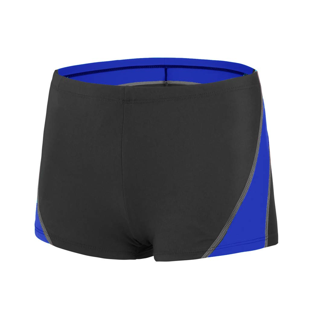 35ca0a7714 Wojin Mens Swim Trunks Square Leg Swimming Boxer Briefs Beach Shorts  Swimsuit(Blue,XL): Amazon.in: Clothing & Accessories