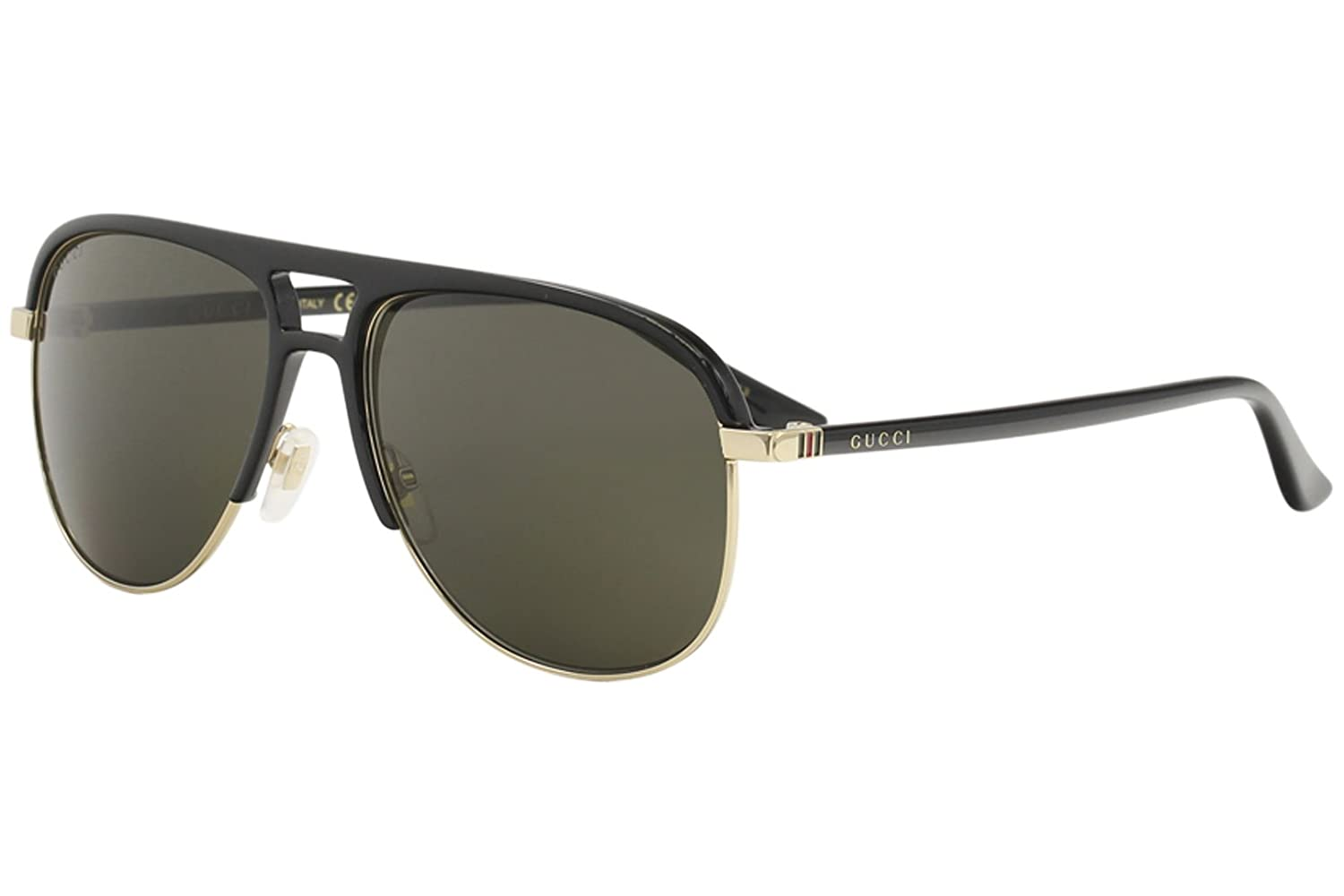 59a37a86c65 Amazon.com  Gucci Grey Aviator Sunglasses GG0292S 001 60  Clothing