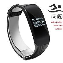 Newyes S3 Swimming Smart Watch Fitness Tracker Heart Rate Monitor Sleep Management Smart Bracelet - Black