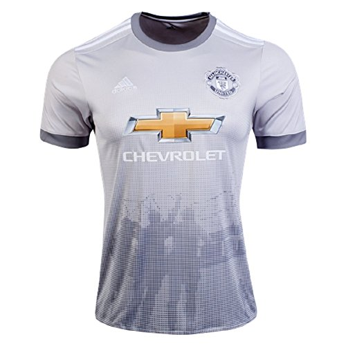 adidas Mens Manchester United Replica Third Jersey (X-Large) Solid Grey / White / Grey ()