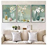 MADE4U [ Flower Arrangement ] [ 20'' ] [ Thicker (1'') ] [ Wood Framed ] Paint by Numbers Kit with Brushes and Paints (Flower Arrangement Great Saver Bundle of 3 XL88X301)