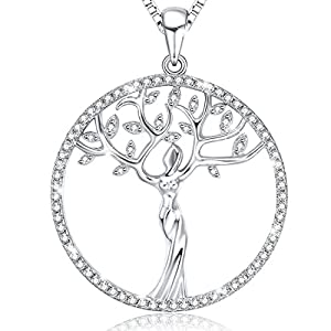"""?Christmas Gifts? Ado Glo """"Family Tree of Life"""" Pendant Fashion Jewelry Necklace - Birthday New Years Eve Xmas Present for Women and Girls - 12 Days of Deals"""