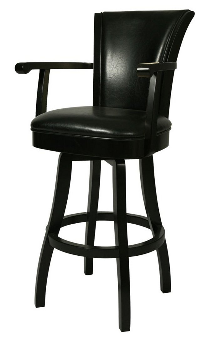 Counter Height Swivel Bar Stools Part - 17: Amazon.com: Pastel Furniture GL-217-26-RD-867 Glenwood Swivel Barstool With  Arms, 26-Inch, Russet Cordovan And Brown Leather: Kitchen U0026 Dining