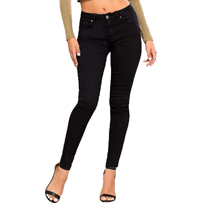 359d200011 YMI Hide Your Muffin Top High-Waist Skinny Luxe Jeans, Black (1 ...