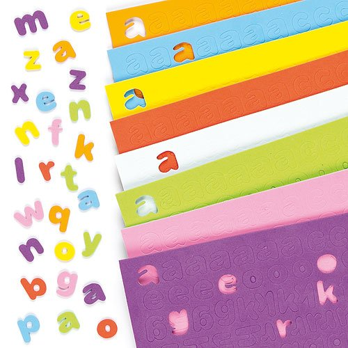 Baker Ross Self-Adhesive Foam Lower-Case Letters Alphabet Stickers Children's Craft Supplies 1100 (Per pack) ()