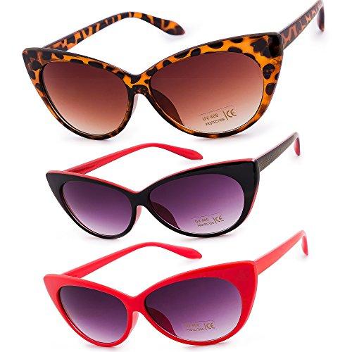 Sunglasses MFAZ Cat Red Black soleil Morefaz Eyeglass Unisex Chat de Ltd Femme Eyes Yeux Red Fashion Lunettes Eyed de Cat 1HqF6p0