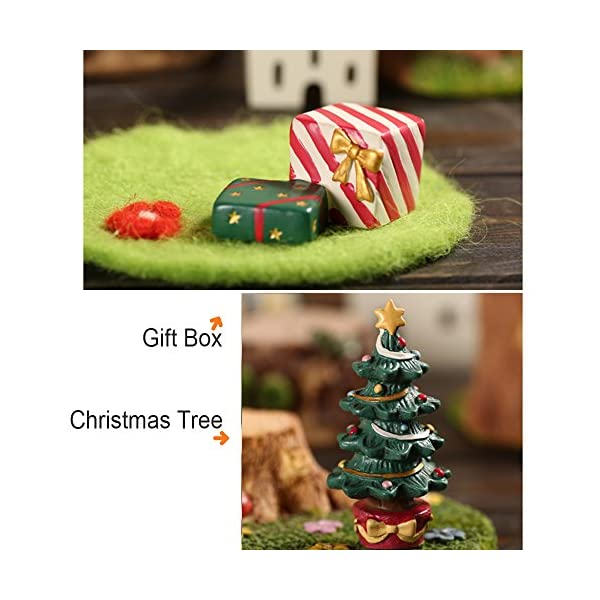 Youdirect Christmas Miniatures 10 Pcs Mini Christmas Figurines 3d Resin Ornament Decorations For Crafts Snow Globes Dollhouse Fairy Garden Snowman Santa Claus Christmas Tree And Animals